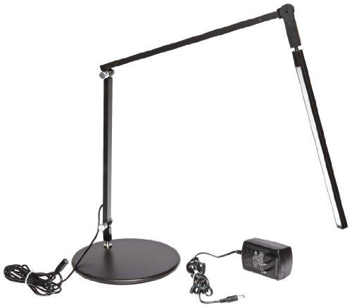 Koncept AR3100-C-MBK-DSK Z-Bar Mini LED Desk Lamp, Cool Light, Metallic Black (Koncept Clamp)