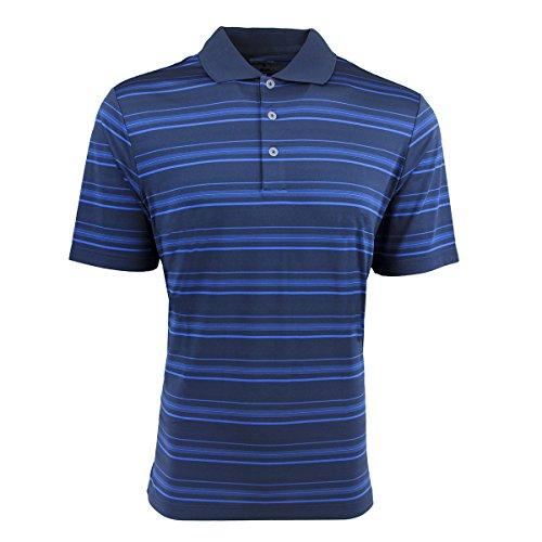 adidas Golf Mens Puremotion Textured Stripe Polo (A123) -Rich BLU/B -2XL