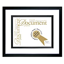 MCS Industries Black Silhouette 13-1/2 by 16-Inch Frame with 8-1/2 by 11-Inch Opening for Documents
