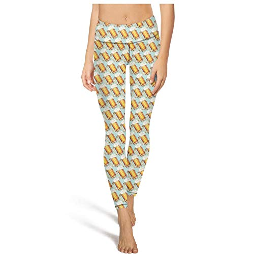Womens Yoga Pants Beer Pattern Super Soft Yoga Leggings with Pockets ()