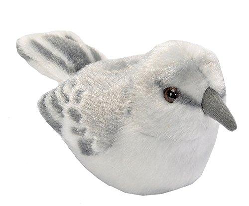 Wild Republic Audubon Birds Northern Mockingbird Plush with Authentic Bird Sound, Stuffed Animal, Bird Toys for Kids and Birders