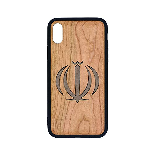 Islam Iran Coat ARMS - iPhone Xs CASE - Cherry Premium Slim & Lightweight Traveler Wooden Protective Phone CASE - Unique, Stylish & ECO-Friendly - Designed for iPhone Xs