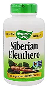 Nature's Way Siberian Eleuthero Vegetarian Capsules 425 mg, 180 count