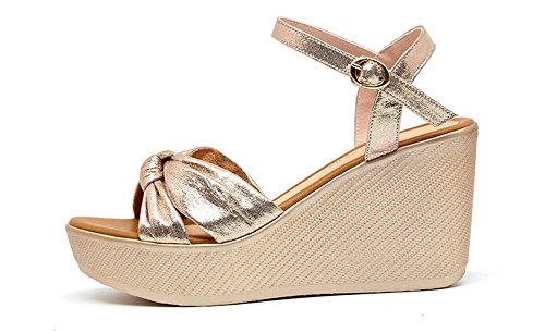 Pequeño Gran Sandalias Nvxie 42 Golden Verano Gruesa De Casual Alto Suela 32 Zapatos Tacón Mujer Muffins Plataformas Tamaño xIrOw7xq