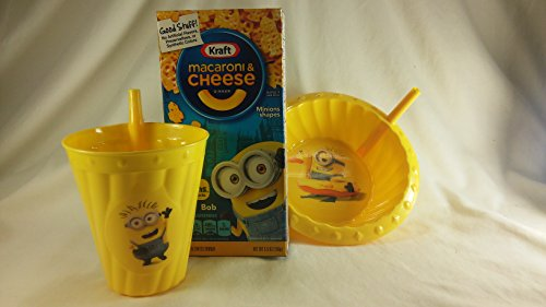 Price comparison product image Minions Lunch Bundle 3pc Set. Kraft Macaroni & Cheese Dinner,  Minions Straw Sippy Bowl & Cup