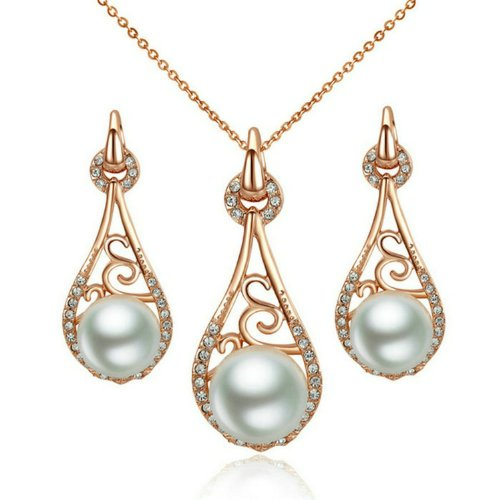 Yoursfs-Vintage-Pearl-Jewelry-Sets-for-Women-18K-Rose-Gold-Plated-Dress-Jewelry-for-Lady-Delicate-Teardrop-Pendant-Necklace-Earring-Set-Present