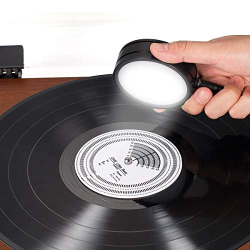 Nobsound 50/60Hz Stroboscopic Speed Strobe Light + Tachometer Disc for Turntable LP Record Player (Power Supply Version)
