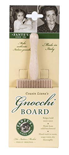 Fantes Gnocchi Board, Beechwood, 8-Inches, The Italian Market Original since 1906