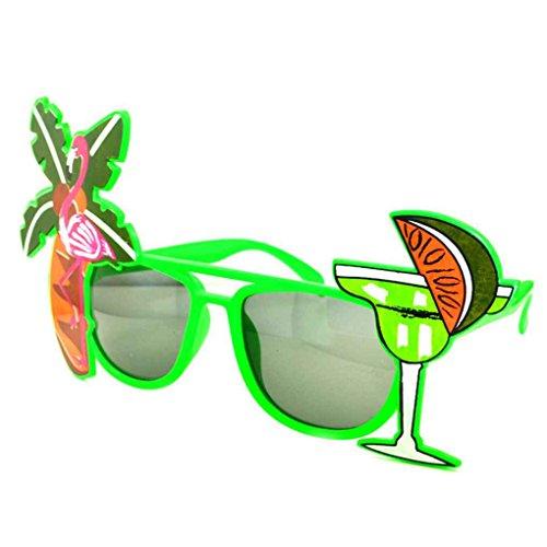 Tropical Fou Hawaï Tree soleil Nouveauté Lunettes Coconut Lemon de de Party Flamingo plage Lunettes Meisijia 7gPqH8