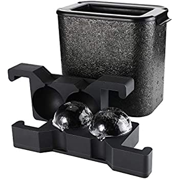 Amazon Com Ticent Whiskey Ice Ball Molds Crystal Clear