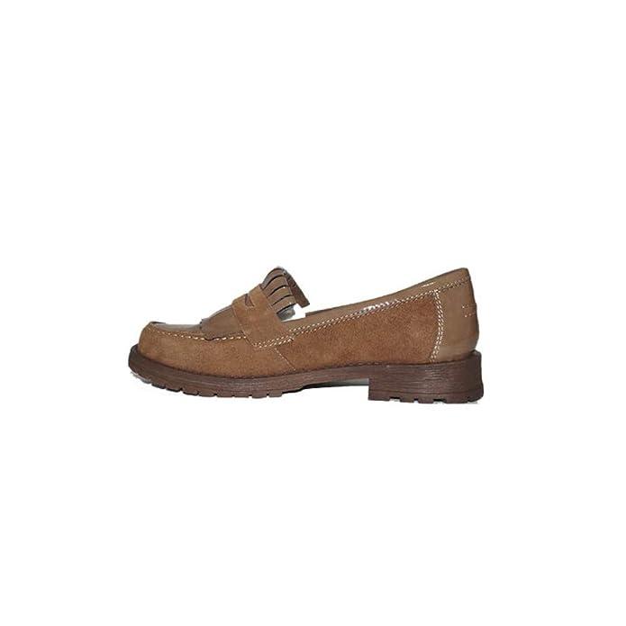 Digo-Digo - Zapato Flecos 2093 Zapatos Mocasines de Mujer Camel Casuales Piel Clásicos: Amazon.es: Zapatos y complementos