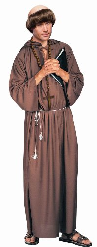 Brown Hooded Robe (Forum Novelties Adult Monk Robe Costume, Brown, Standard Size (up to 42-inch chest))