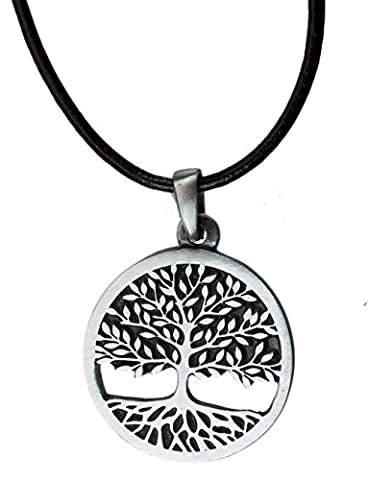Tree of Life Celtic Pewter Pendant Religious Flow Creation + 18