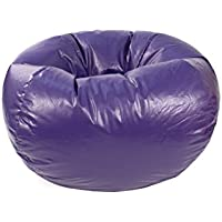 Gold Medal Bean Bags 30010546817 Medium Leather Look Beanbag, Tween Size, Purple