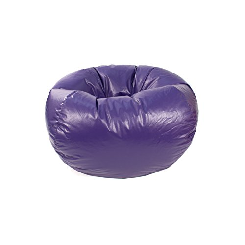 Green Vinyl Bean Bag (Gold Medal Bean Bags 30010546817 Medium Leather Look Beanbag, Tween Size, Purple)