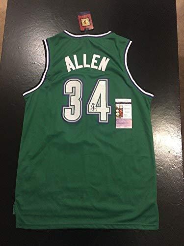 Ray Allen Bucks Hof Auto Autographed Signed Memorabilia Sz L Basketball Jersey JSA Certified