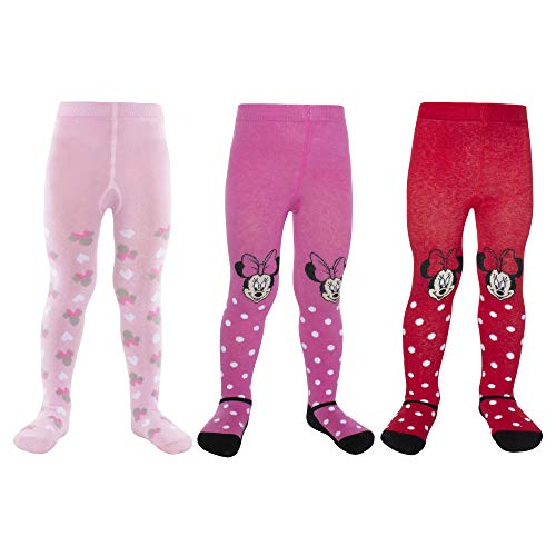 Disney Baby Girls Minnie Mouse Charachter Tight 3 Pack (Newborn and Infants) from Disney