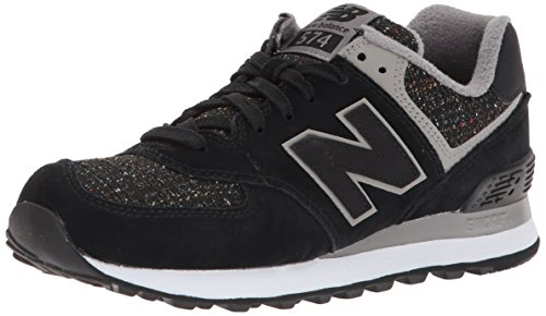 Sneaker New black Nero Donna Balance 574 EwqC8
