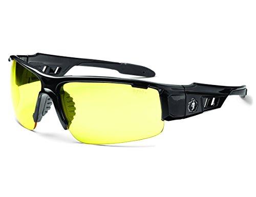 Skullerz Dagr Safety Glasses - Black Frame, Yellow - Glass Safety Glasses Working