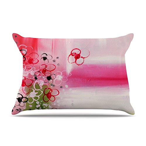 Kess InHouse Cathy Rodgers Spring Dreams Pink Yellow Standard Pillow Case 30 by 20-Inch 30 X 20