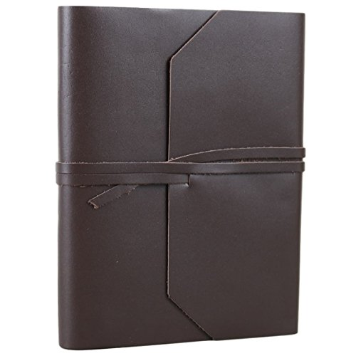 Leather Journal Blank Sketchbook Notebook with Strap Tie 6