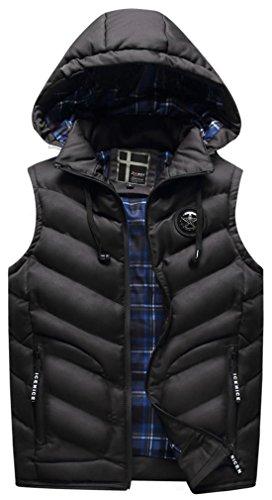 Manche Sans Noir Vest Doudoune Homme w8qEO7cB
