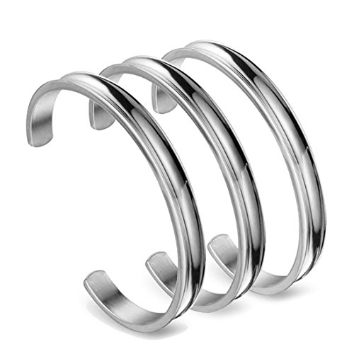 Women Fashion Accessories Stainless Steel Infinity Bangle Bracelet - 2