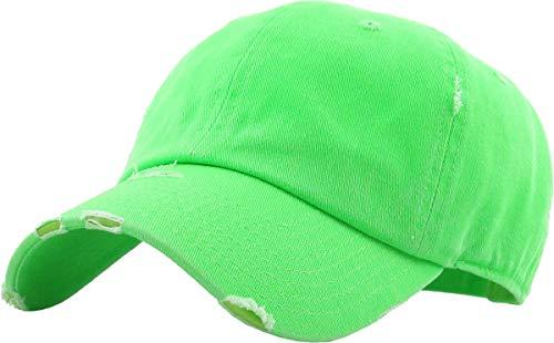 KBE-Vintage NGRN Vintage Washed Cotton Dad Hat Baseball Cap Polo Style