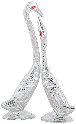 Buy Rajkruti Handicraft metal Kissing swan pair home decor show