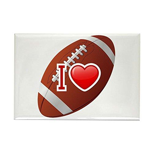 Rectangle Magnet I Love Football
