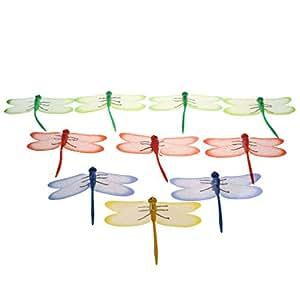MagiDeal 10pcs simulación Pin libélula decoración para Cortina paños