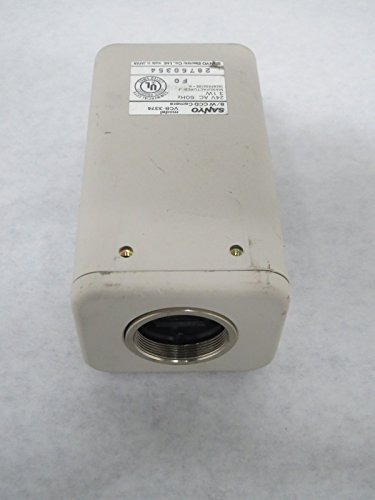 SANYO VCB-3374 CCD B/W HI-RESOLUTION CAMERA 24V-AC SAFETY AND SECURITY B328419