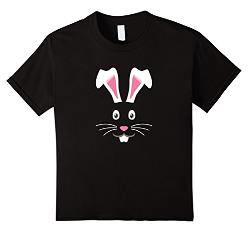 Kids CUTE BUNNY FACE KIDS HALLOWEEN COSTUME GIFT IDEA T-SHIRT. 8 Black (Bunny Halloween Costume Ideas)