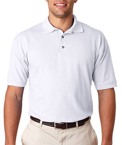 Anvil Adult Ring-Spun Piqué Polo , White, Small Pack of ()