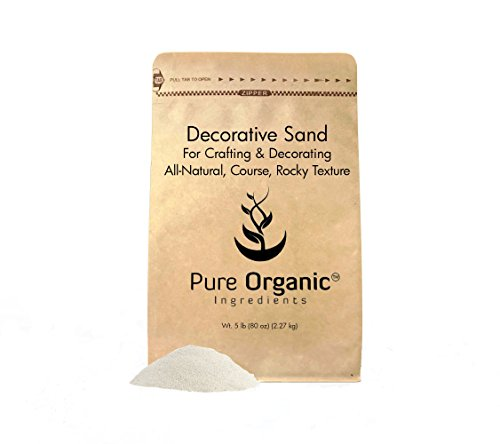 Pure Organic Ingredients Natural Decorative Sand (5 lbs), Real Sand for Use in Crafts, Decor, Vase Filler, and More!
