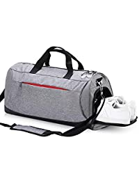 Eocean Dry Wet Depart Duffle Bag Sports Gym Bag with Shoes Compartment, Waterproof Gym Sports Bag for Men and Women