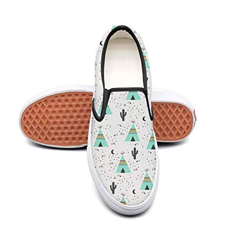 Sernfinjdr Women's Mini Cactus Blossom Moon Fashion Casual Canvas Slip Slip Canvas on Shoes Fashion Golf Sneaker Shoes B07H5JT4MS Shoes 246167