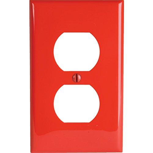 Recept Plate - 329007 Red Single Duplex Recept Plate-SET OF 2