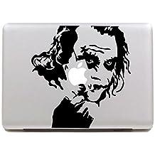 "Vati Leaves Removable Creative Heath Ledger Joker Decal Sticker Skin Art Black for Apple Macbook Pro Air Mac 13"" 15"" inch / Unibody 13"" 15"" Inch Laptop"