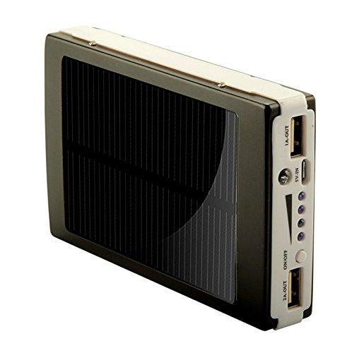 Amazon.com: K-Navi Dual USB Universal LED Solar Power Bank ...