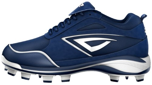 3N2 Women's Rally TPU Fastpitch Baseball Cleat, Navy/White, Size 5