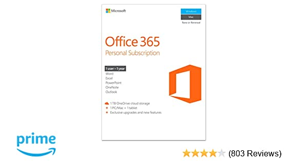 Amazon microsoft office 365 personal 1 year subscription 1 amazon microsoft office 365 personal 1 year subscription 1 user pcmac key card software fandeluxe Choice Image