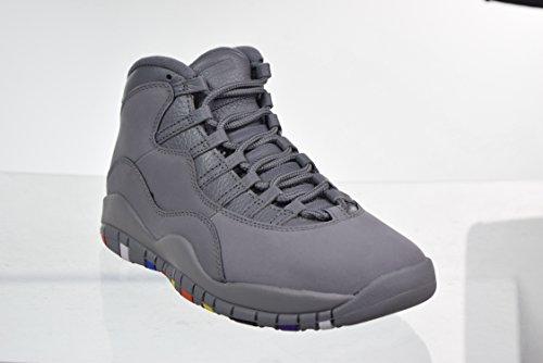 Nike Air Jordan 10 Retro Herresko Køle Grå / Kølig Grå / Hvid 310.805 Til 022 Grå / Kølig Grå / Hvid DZymU1RtR