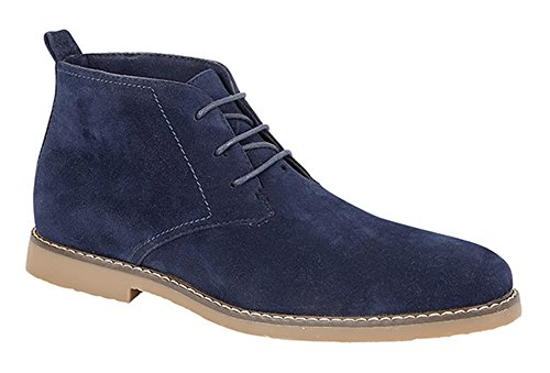 classici camoscio fino finto in Blu Blu stivaletti alla alla Charles caviglia deserto caviglia Panama con Southwell lacci color w4Rq08xI