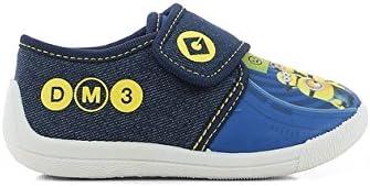 Zapatillas de Estar por casa para Ni/ños MINIONS Despicable Me Boys Kids Velcro Low Houseshoes
