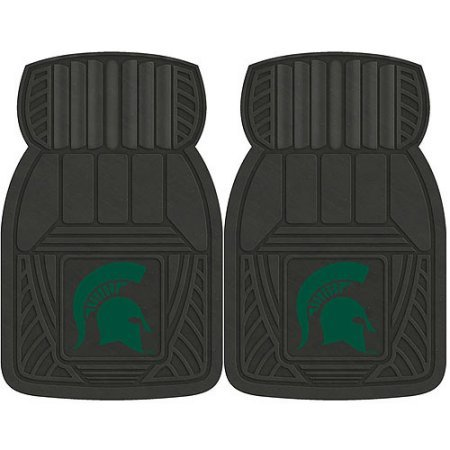 NCAA 4-Piece Front #36572579 and Rear #19888847 Heavy-Duty Vinyl Car Mat Set, Michigan State University by Sports Licensing Solutions LLC
