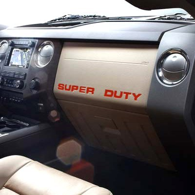 BDTrims   Dashboard Letters for Ford SUPER DUTY 2008-2016 Plastic Inserts Kit (Chrome) LTR-SUPER-DASH