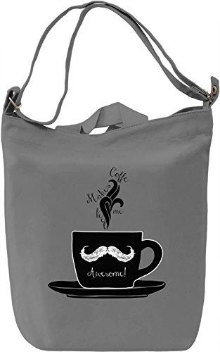 Hipster coffee Borsa Giornaliera Canvas Canvas Day Bag| 100% Premium Cotton Canvas| DTG Printing|