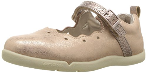 Step & Stride Girl's Abigail Mary Jane Flat, Rose Gold, 6.5 M US Toddler