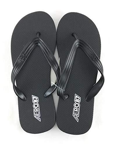 Aeropostale Men's Flip Flop Sandal X-Large Black 8919